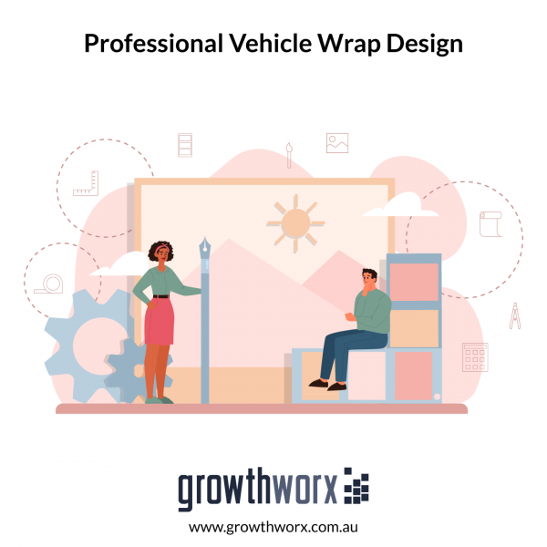 Design professional vehicle wrap for 5 sides 1