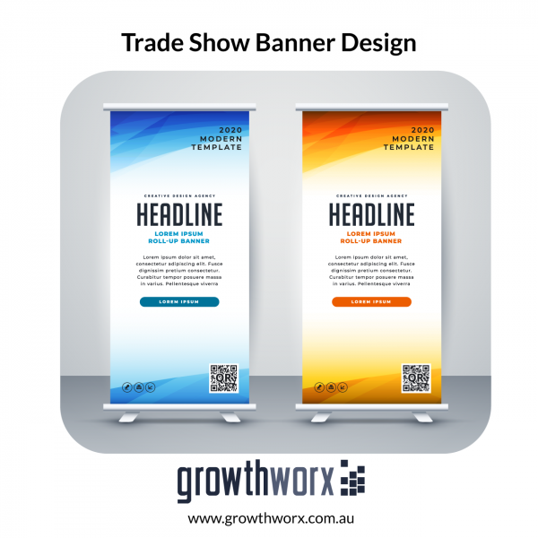 Design roll up, retractable banner and premium trade show backdrop 1
