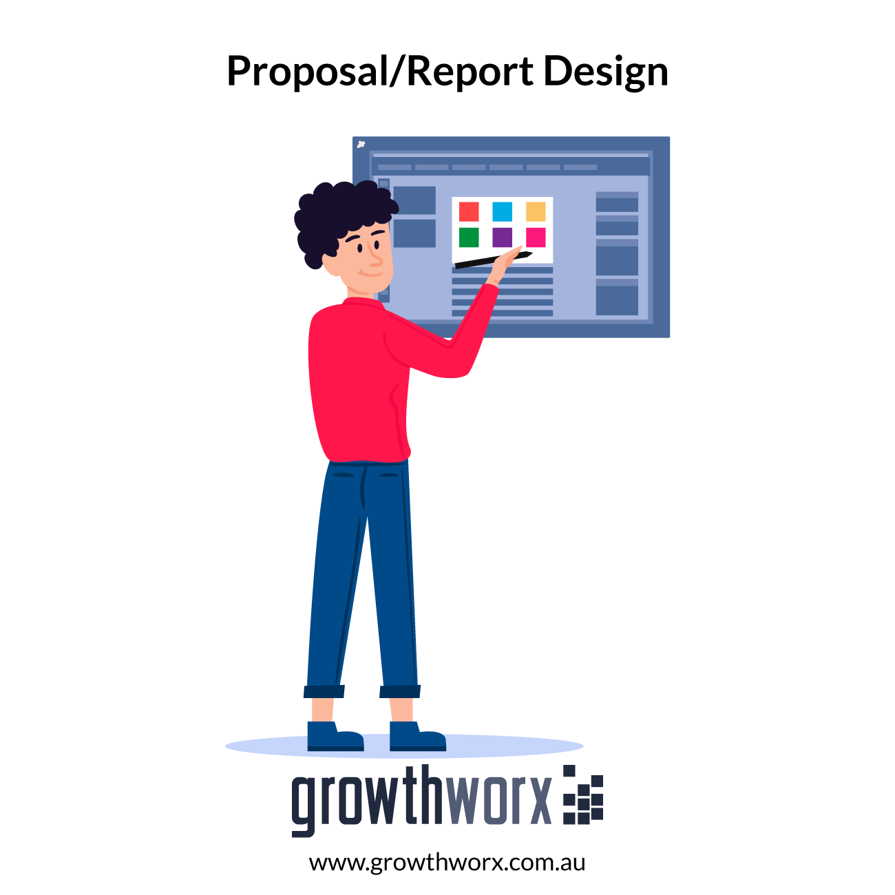 Design up to 10 pages proposal/report in pdf + original file. Cover included. 1