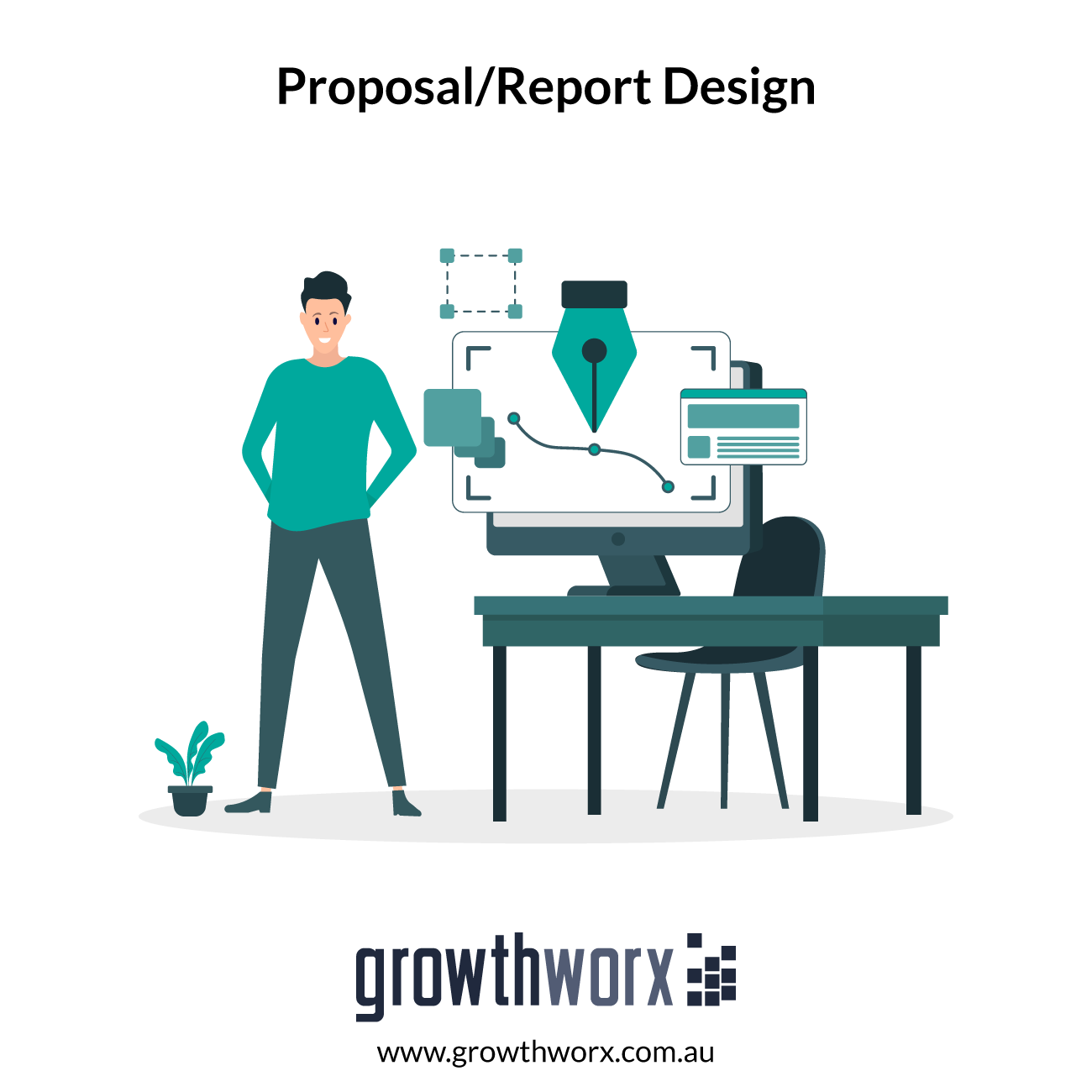 Design up to 20 page proposal/report in pdf + original files. Cover included. 1