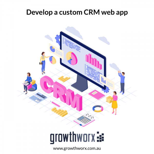 Develop a custom CRM web app with admin panel 1