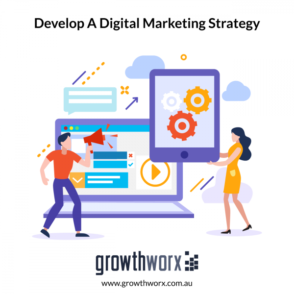 Develop a digital marketing strategy for a startup business 1