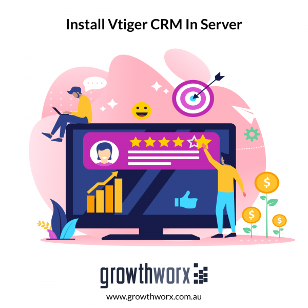 Install Vtiger CRM in your server, configure your  email servers and workflows, label incoming/outgoing emails 1