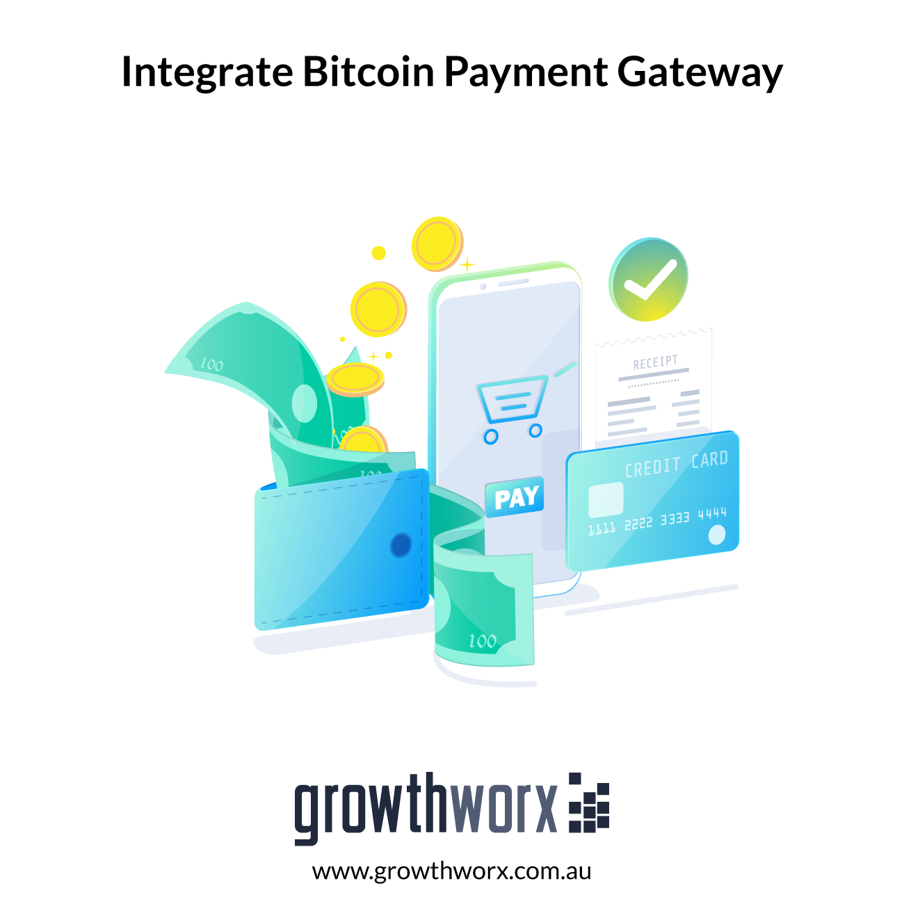Integrate a Bitcoin secure payment gateway to your website to take either a one-off payment or recurring payment 1