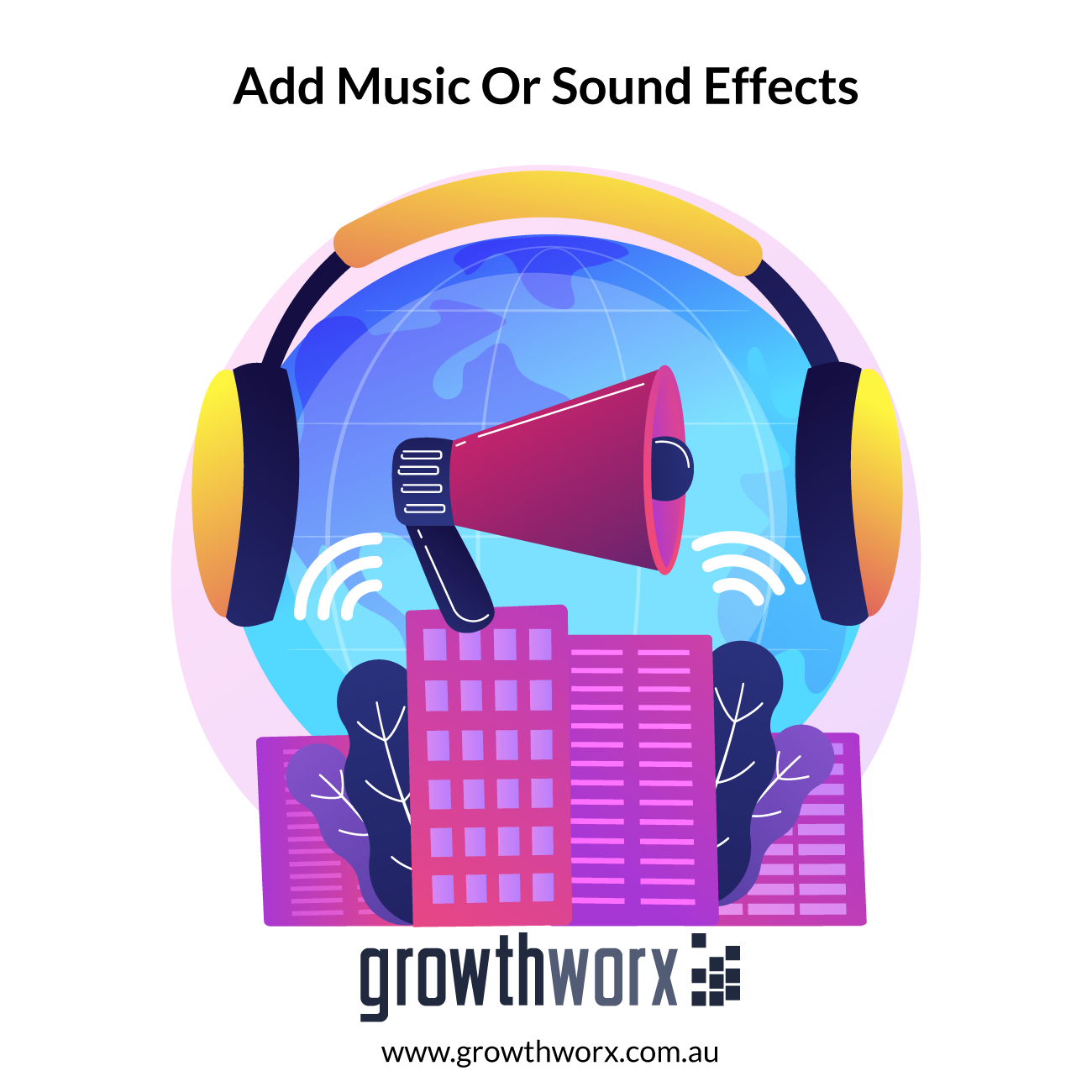 We will add music or sound effects to your audio or video 1