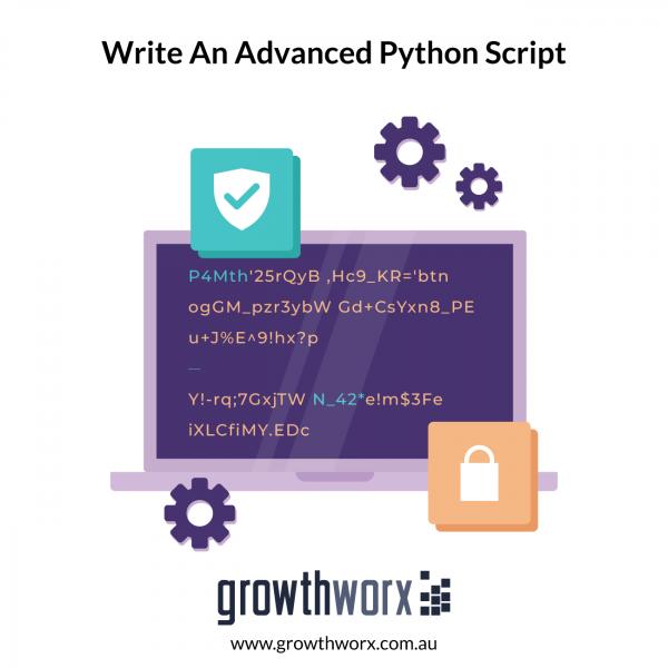 Write an advanced python script to scrape a website 1
