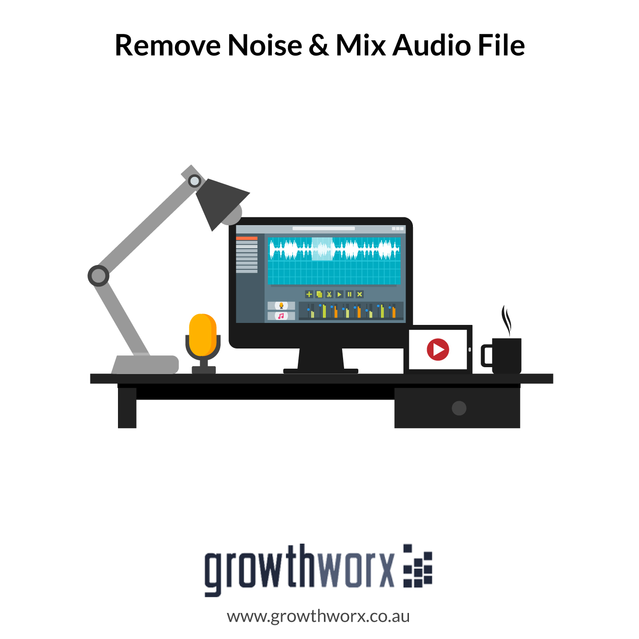 I will clean up, edit, remove noise and mix your audio file 1