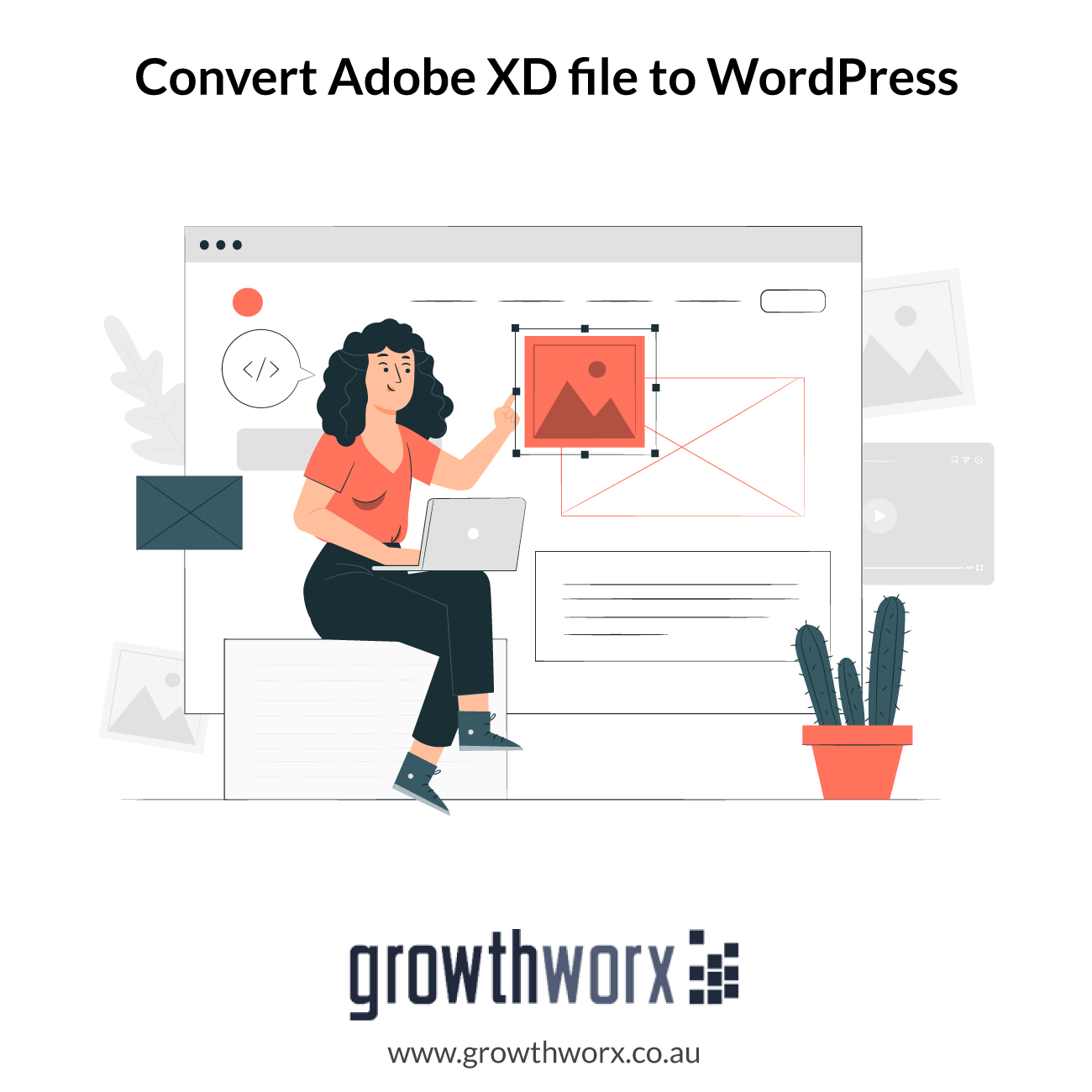 Convert six pages Adobe XD file to a WordPress website 1