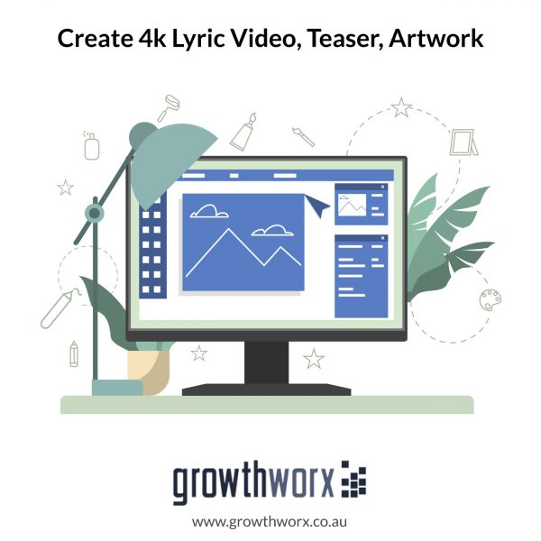 Create a 4K lyric video, teaser, artwork, thumbnail and Spotify canvas. No time limit 1