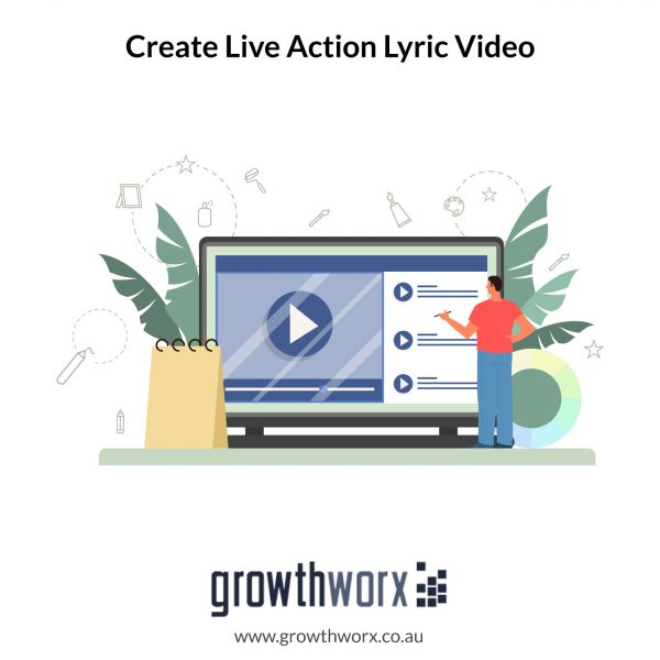 Create a live action lyric video no longer than 04:30 minutes 1