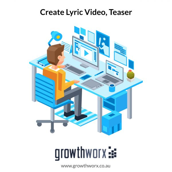 Create a lyric video, teaser, YouTube thumbnail and Spotify canvas. Up to 06:00 minutes 1