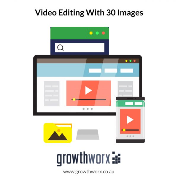 Create a promotional, intro, product, event, video editing with 30 images 1