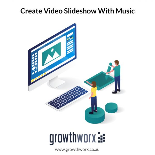 Create a video slideshow with music containing 35 images 1