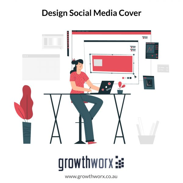 Design awesome social media cover with 2 size variations 1