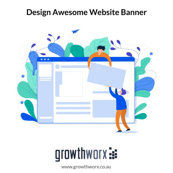 Design awesome website banner with 3 size variations 1