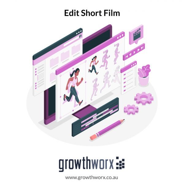 Edit your short film. Package includes: color grading, sound design, motion graphic templates 1