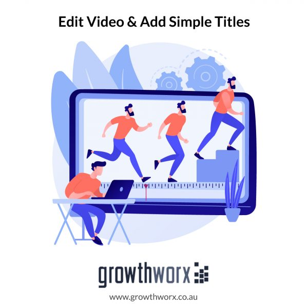 Edit your video and add some simple titles. Package doesn't include color grading 1