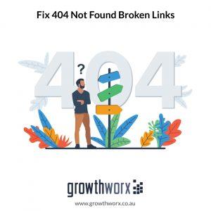 404 not found broken links fix