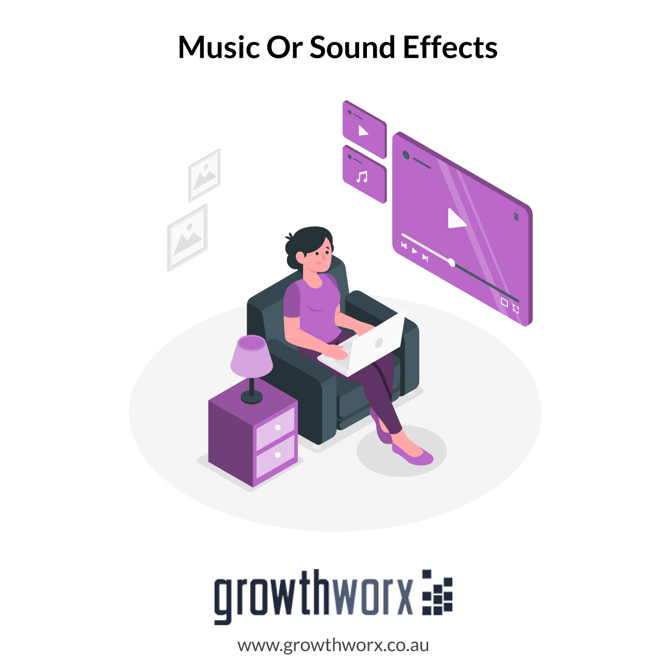 I will add music or sound effects to your audio or video 1