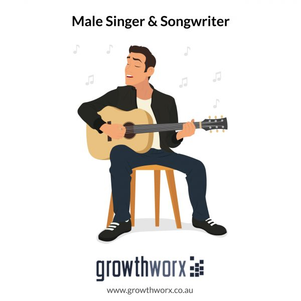 I will be your male singer and songwriter 1