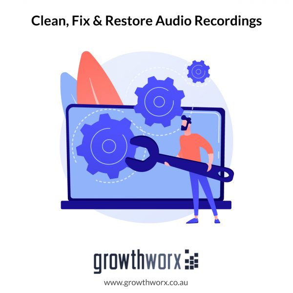 I will clean, fix and restore audio recordings 1