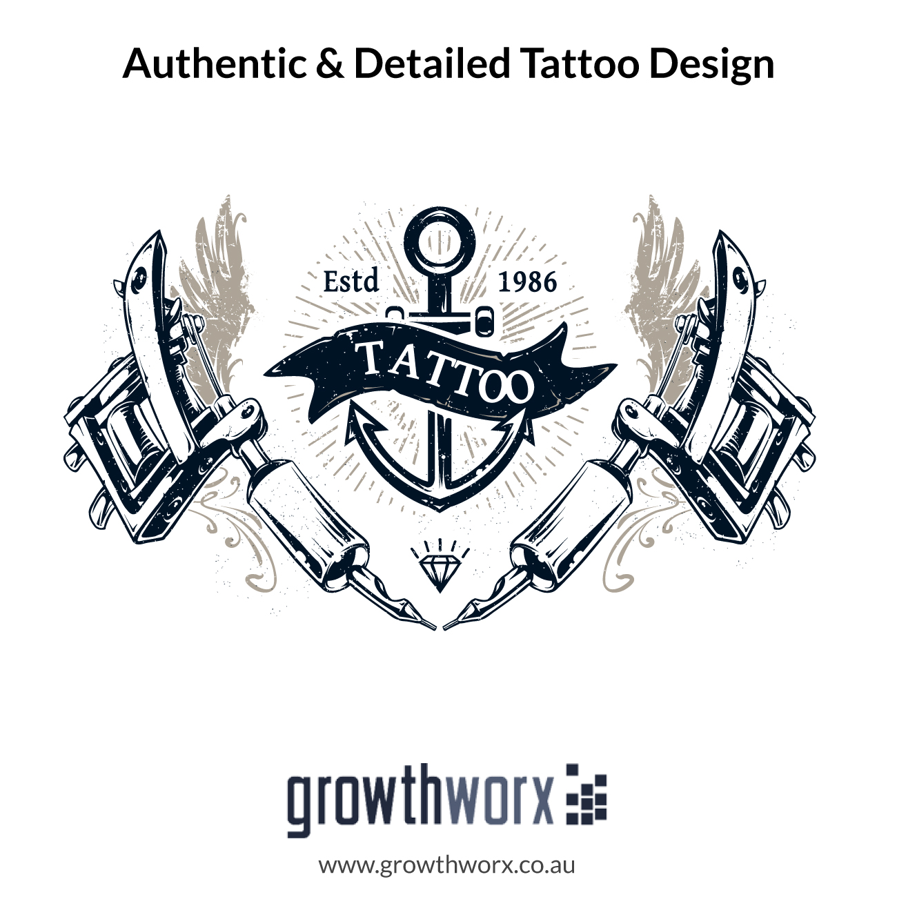 I will create authentic and detailed tattoo design 1