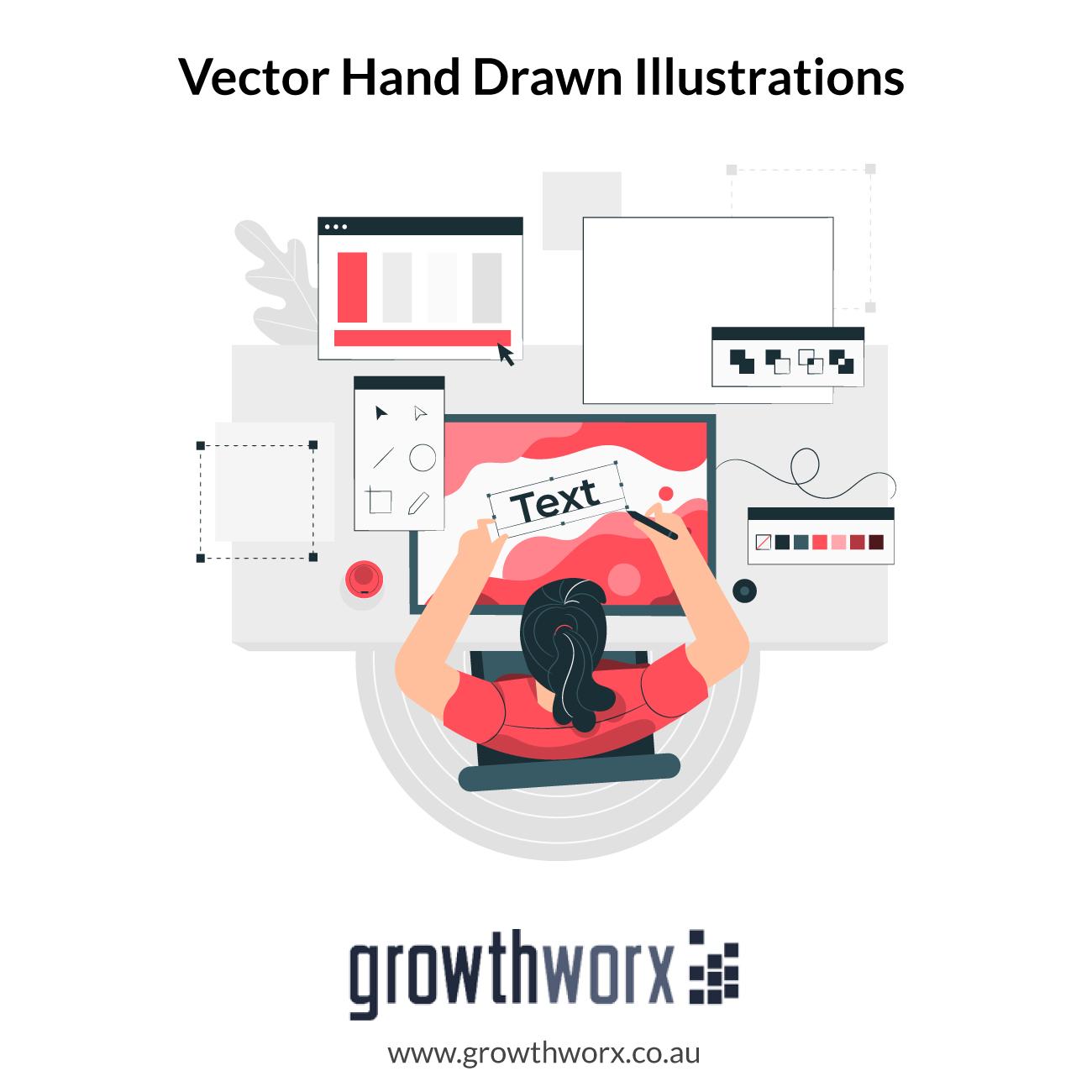I will create vector hand drawn illustrations using adobe draw 1