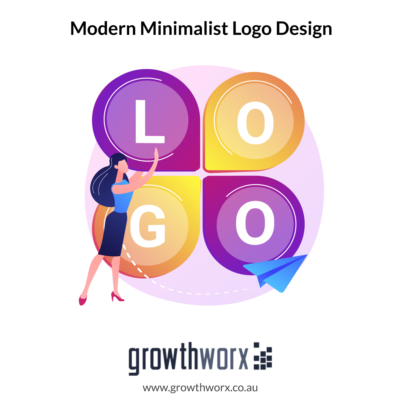 I will design 2 modern minimalist logo design 1