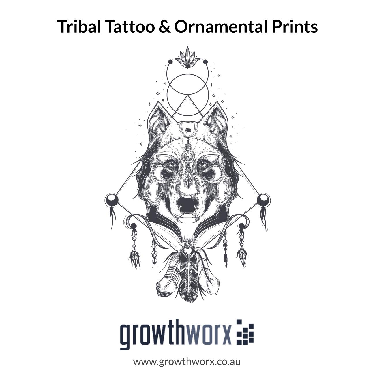 I will design a custom tribal tattoo and ornamental prints 1