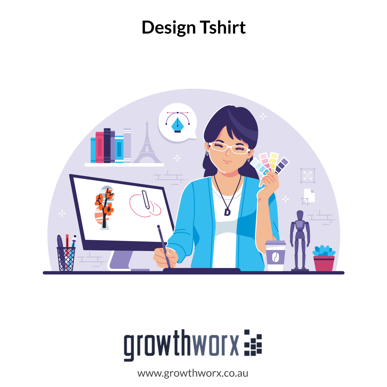 I will design a tshirt with your idea 1