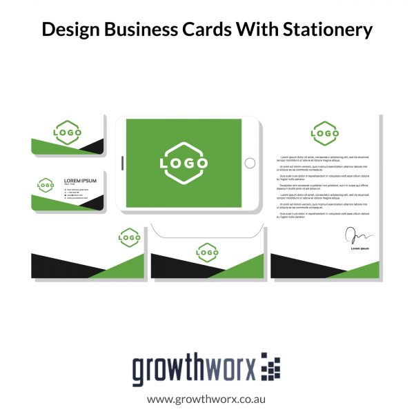 I will design business cards with stationery 1