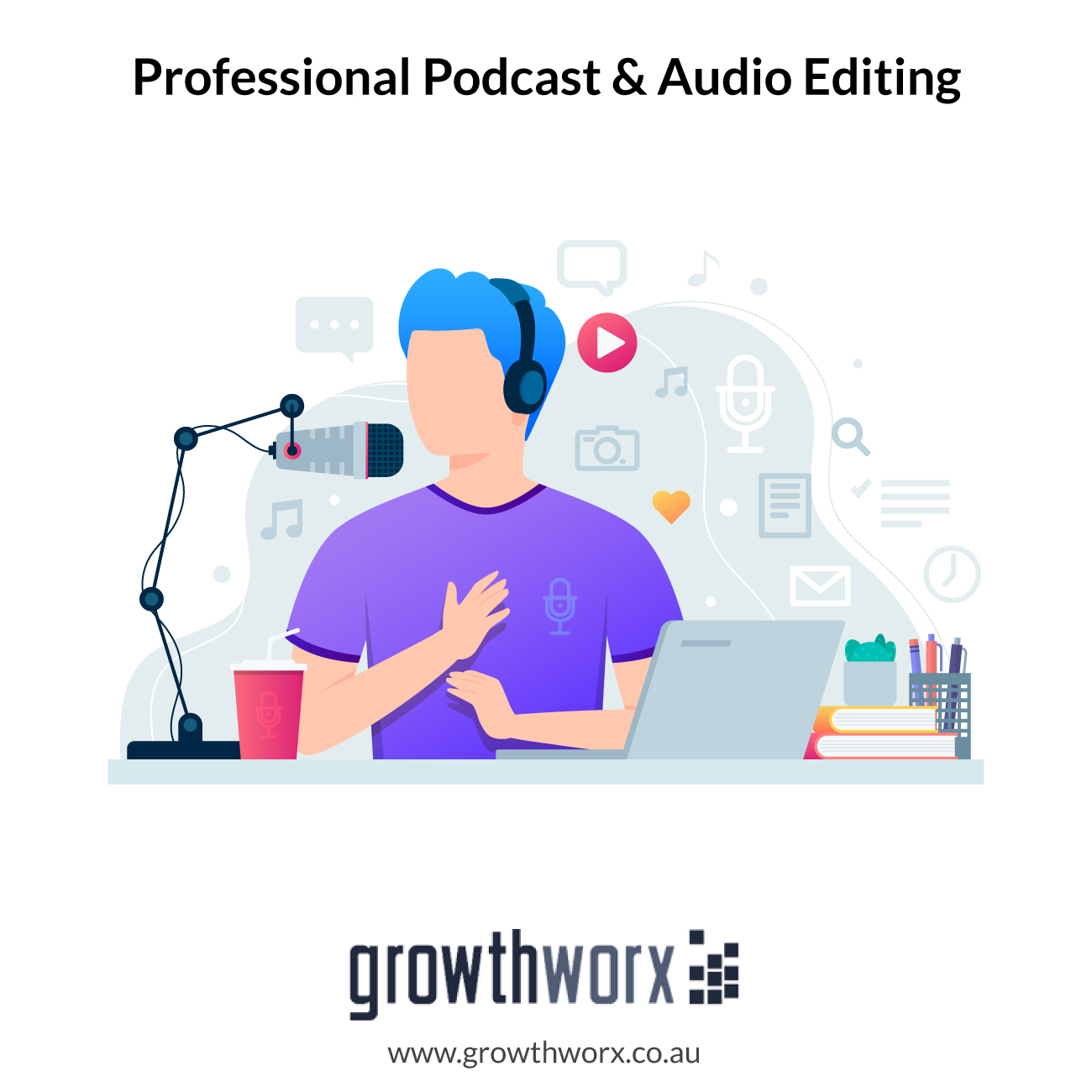 I will do professional podcast and audio editing 1