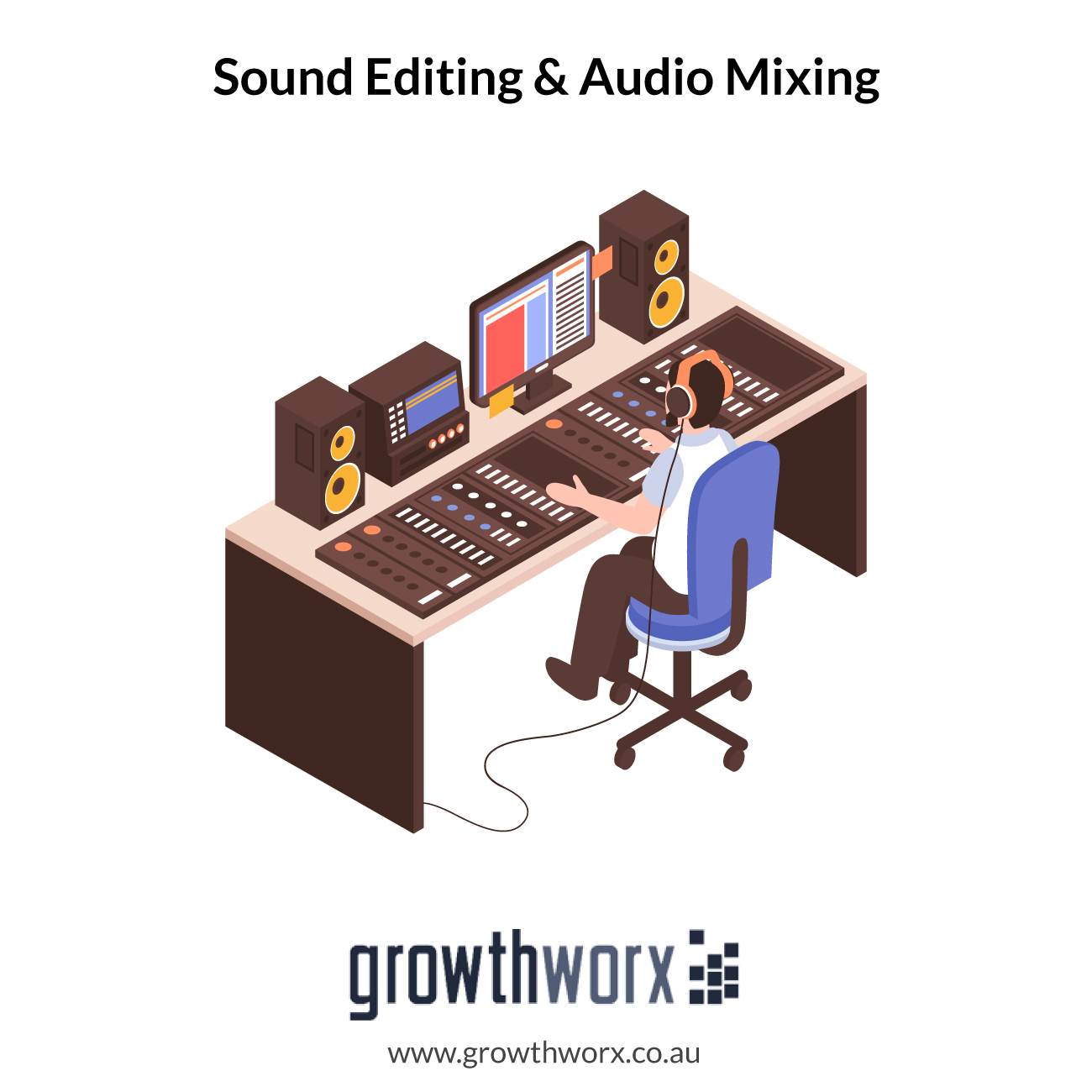 I will do sound editing and audio mixing 1