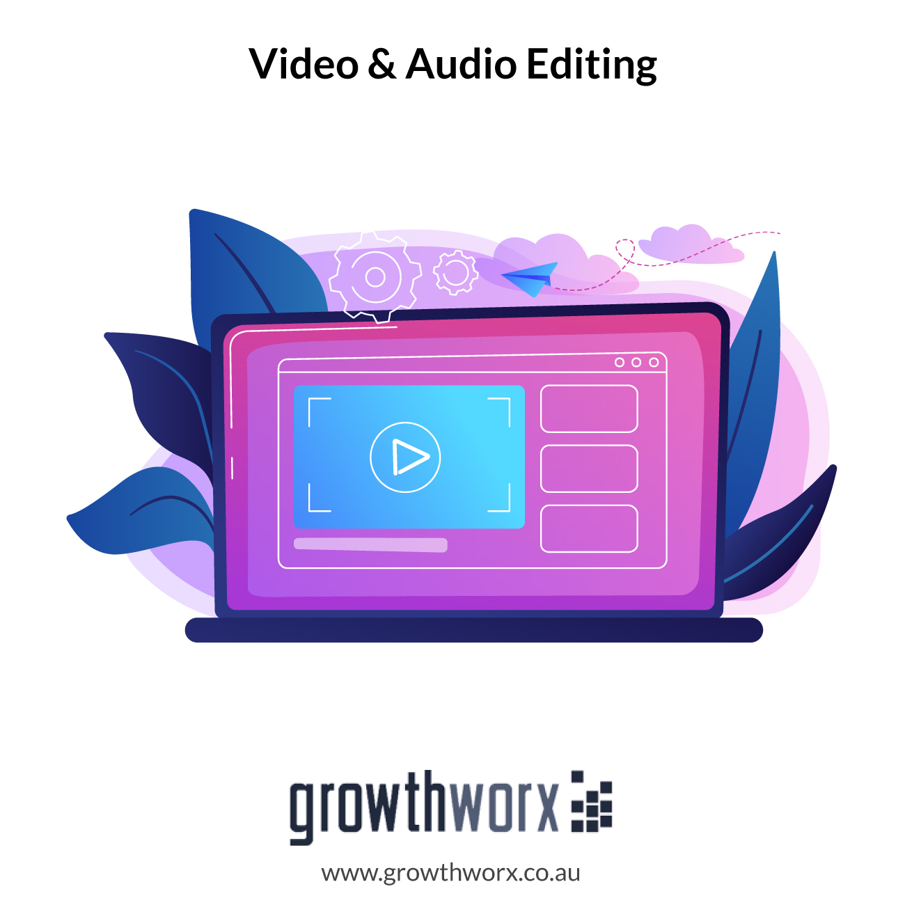 I will do video and audio editing 1