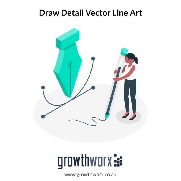 I will draw a detail vector line art illustrations 1