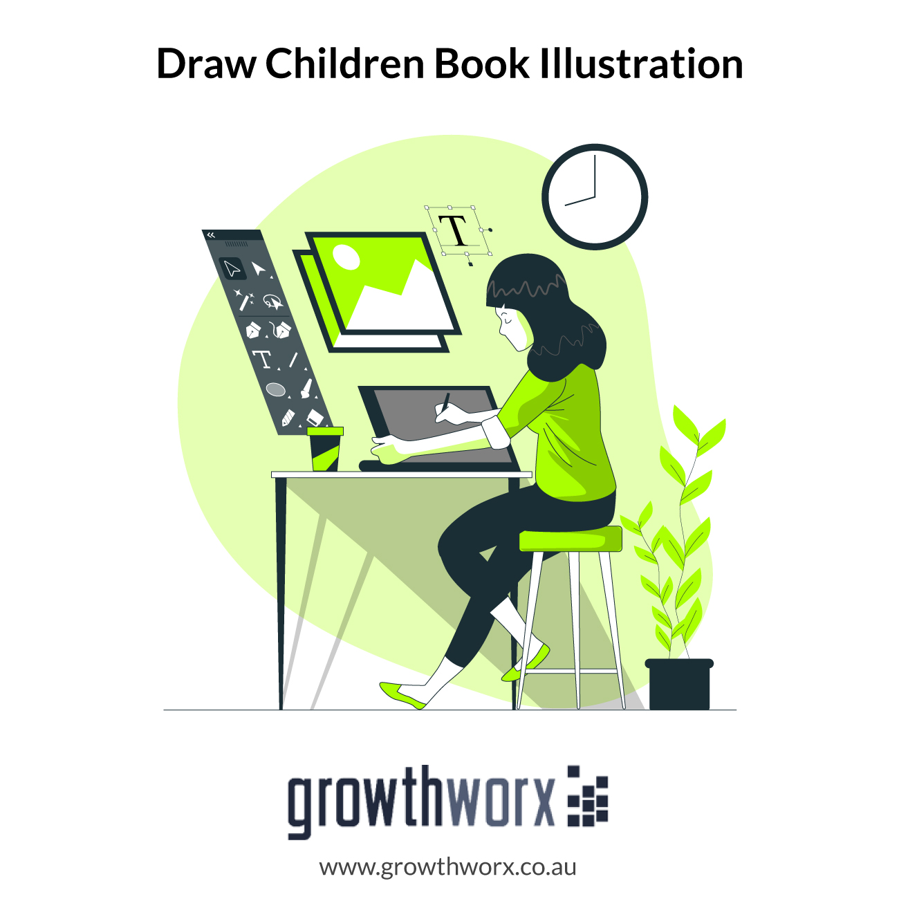 I will draw your high resolution children book illustration 1