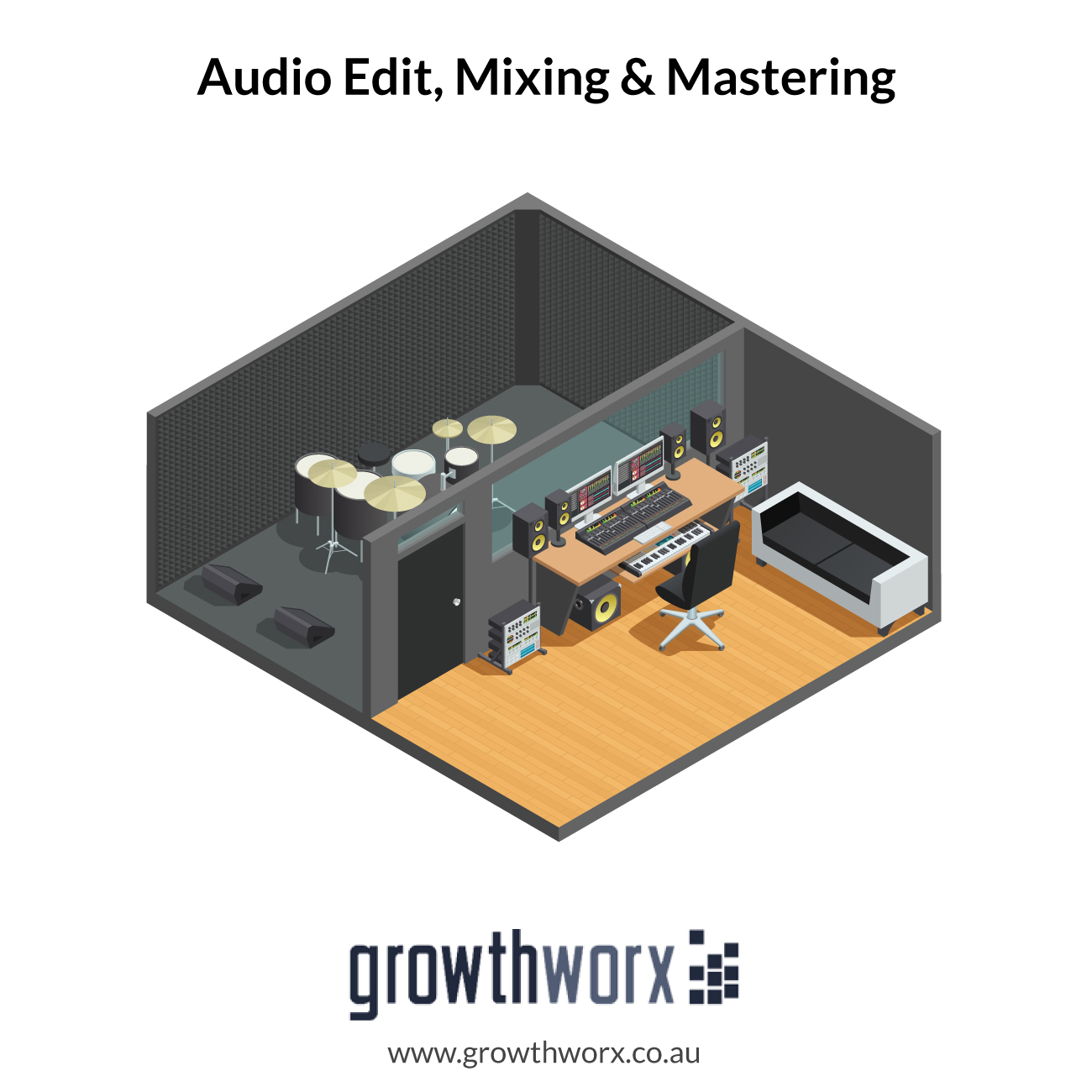 I will edit, mixing and mastering 1