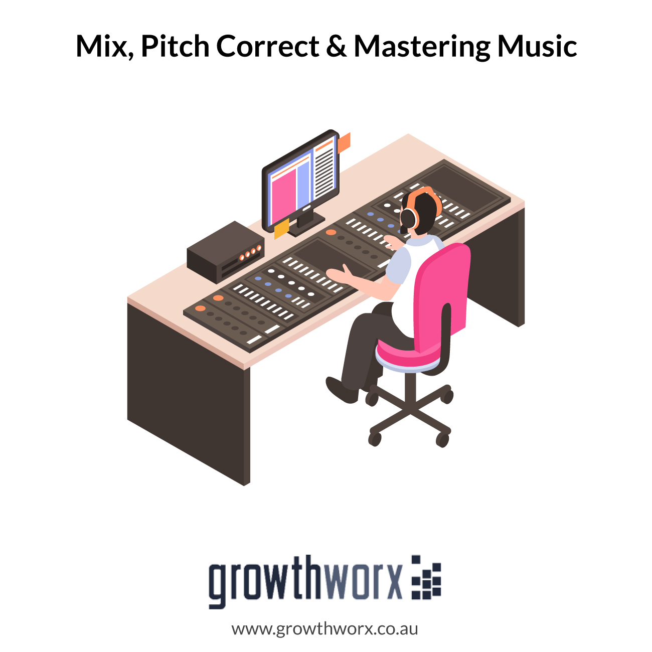 I will mix, pitch correct and master your music to sound amazing 1