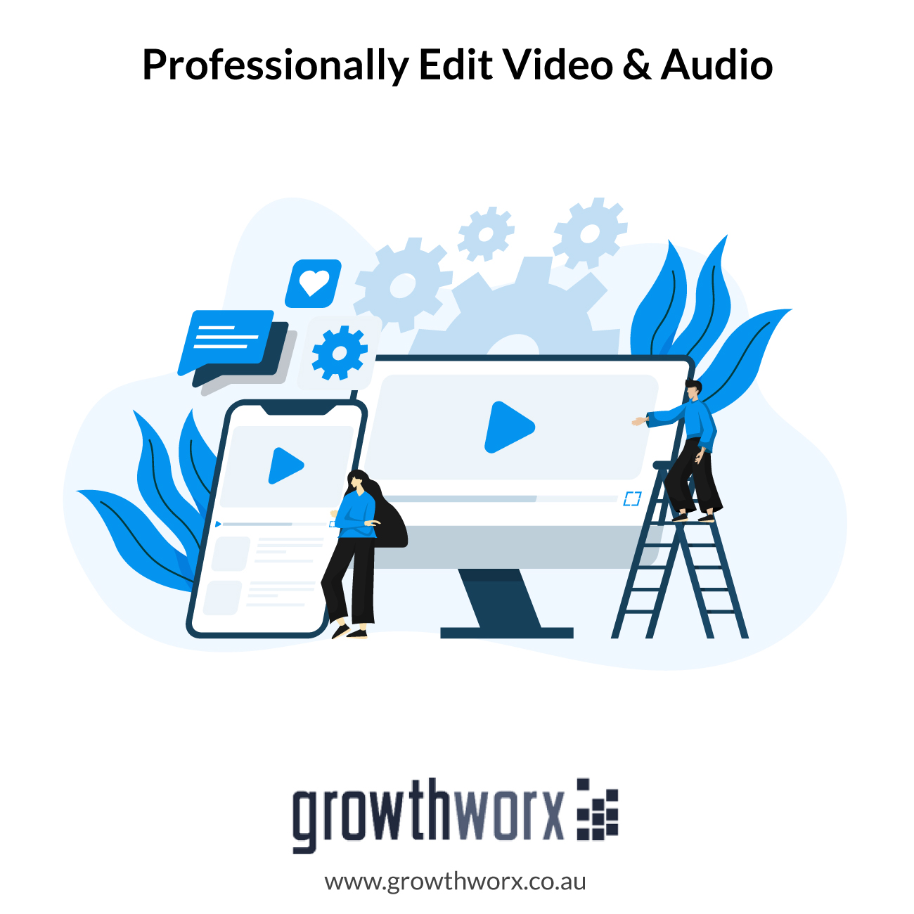 I will professionally edit your video and audio 1
