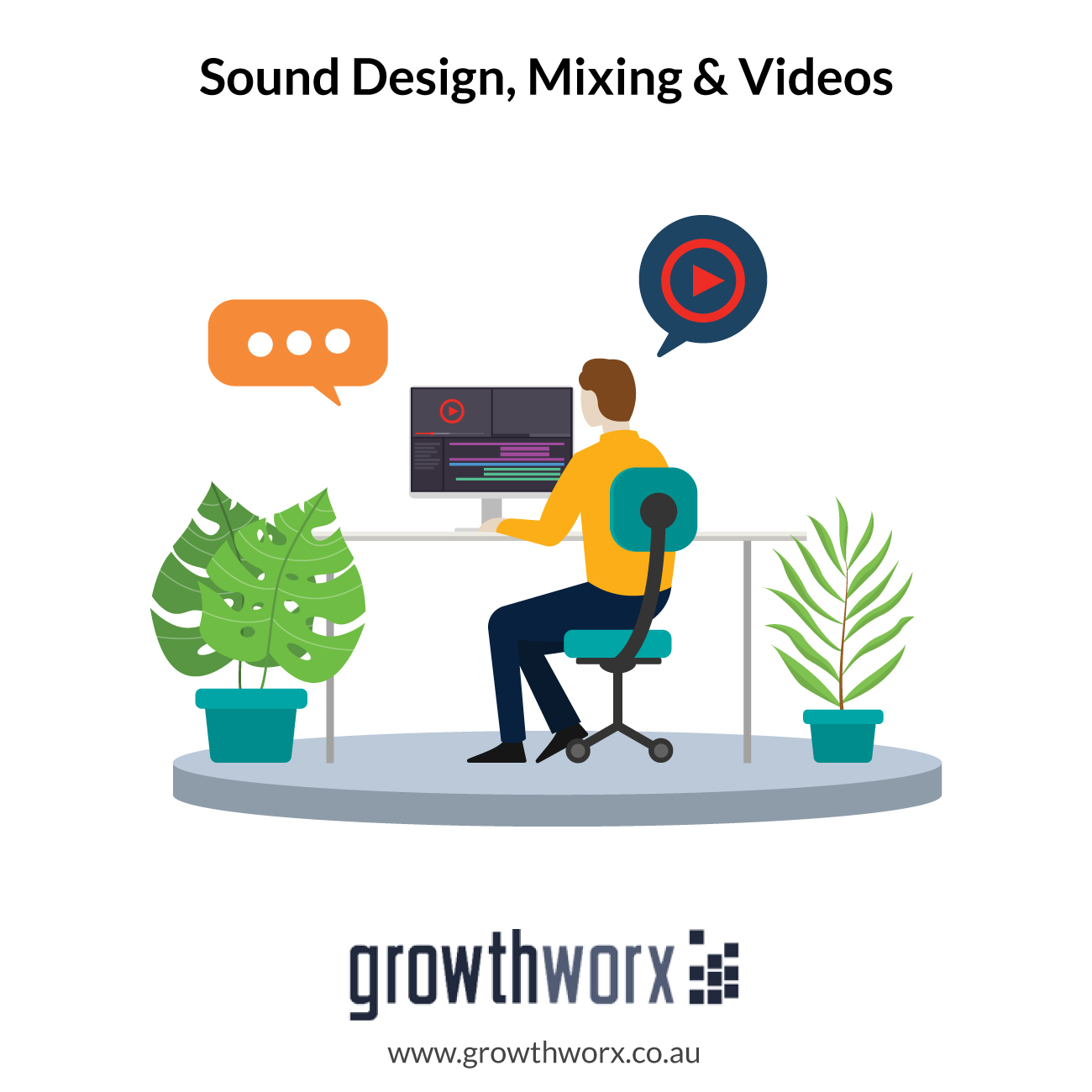 I will provide sound design, mixing and mastering for your videos 1