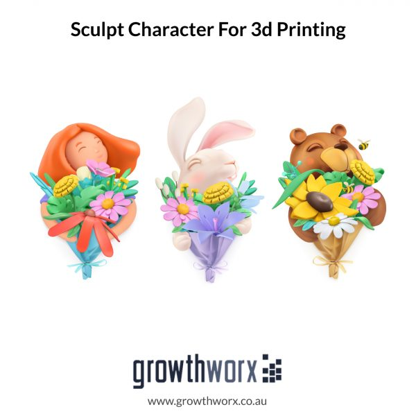 I will sculpt a 3d model and character for 3d printing 1