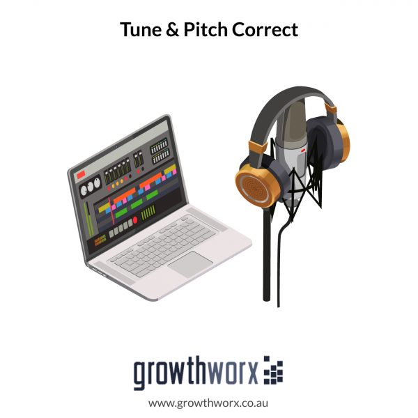 I will tune and pitch correct your vocals using melodyne or autotune 1
