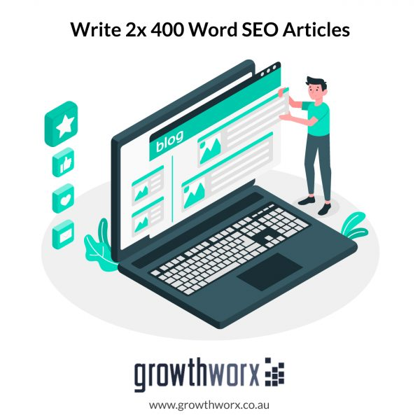 I will write 2x 400 word SEO articles or blog posts 1