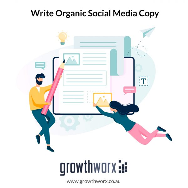 I will write organic social media copy 1