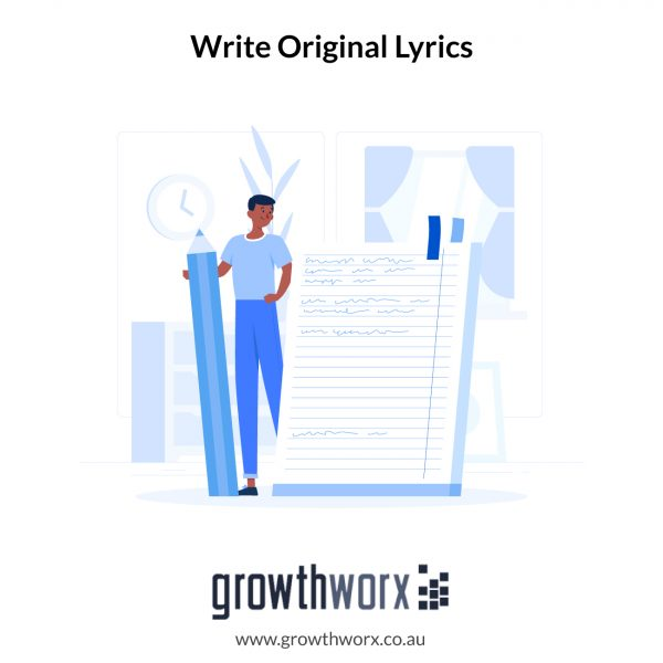 I will write original lyrics for you 1