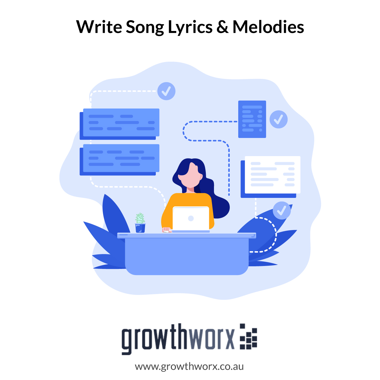 I will write song lyrics and melodies for you 1