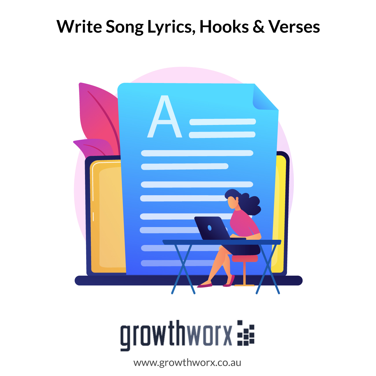 I will write your song lyrics, hooks and verses 1