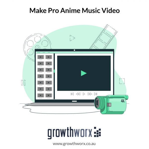 Make an pro anime music video amv with your song in 4k 1