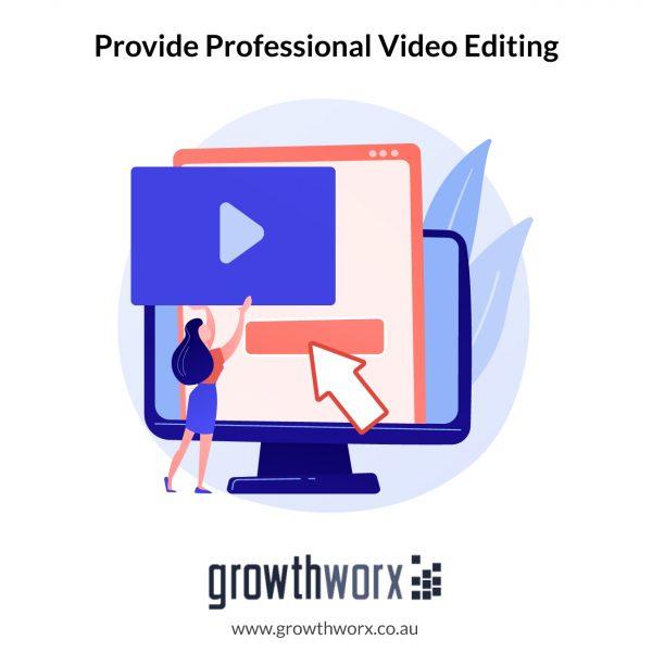 Provide Intermediate and Professional Video Editing 1