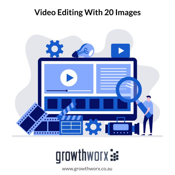 Create a promotional, intro, product, event, video editing with 20 images 1